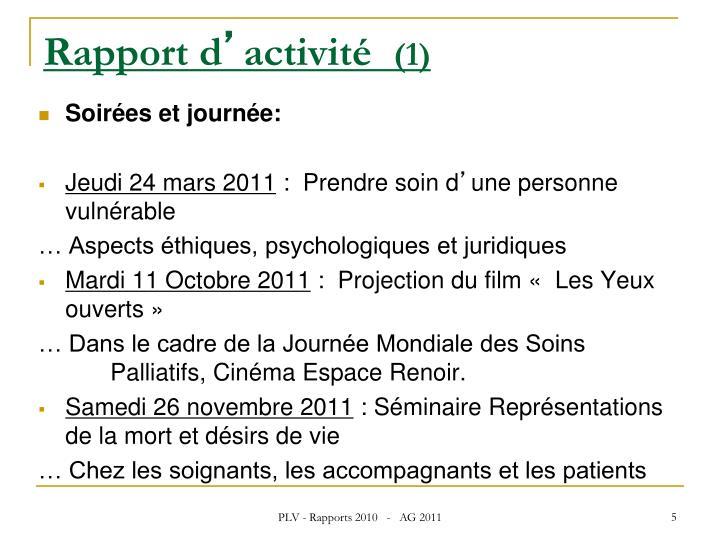 Rapport d