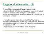rapport d orientation 3