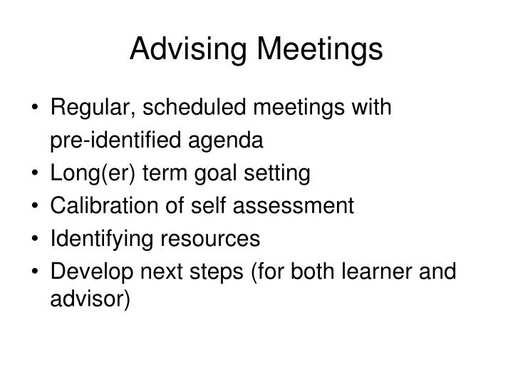 Advising Meetings