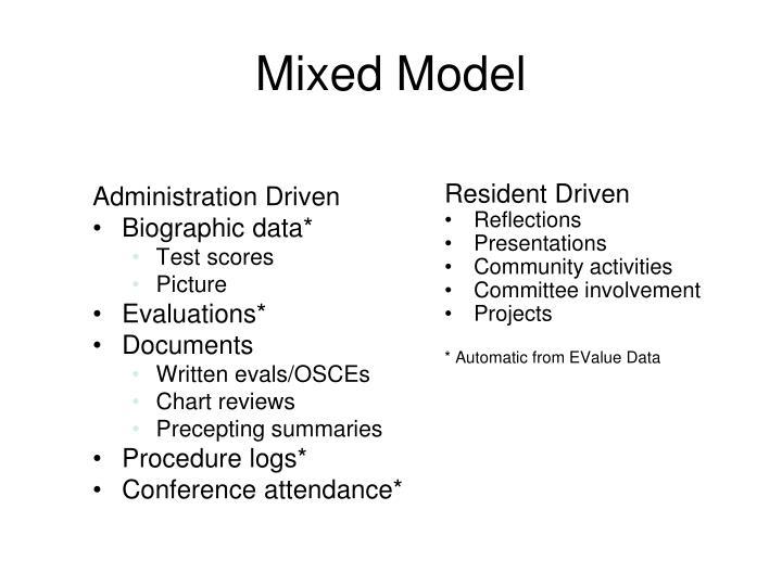 Mixed Model