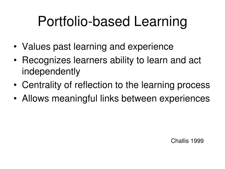 Portfolio-based Learning