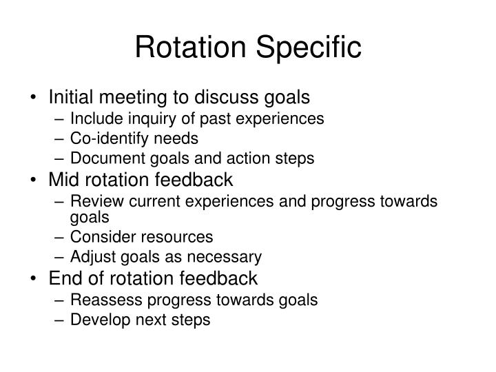 Rotation Specific