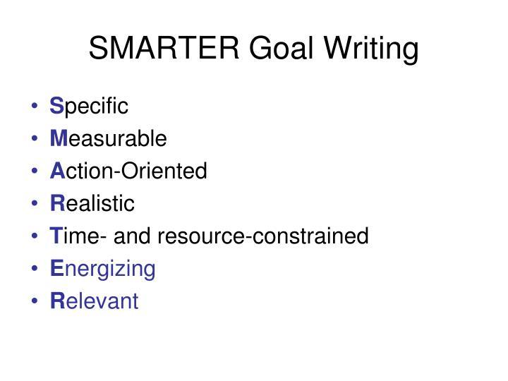 SMARTER Goal Writing