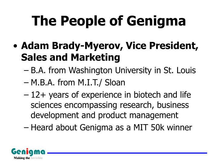 The People of Genigma