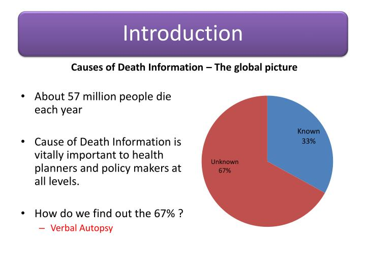 Causes of Death Information – The global picture