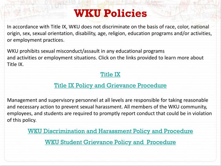 WKU Policies