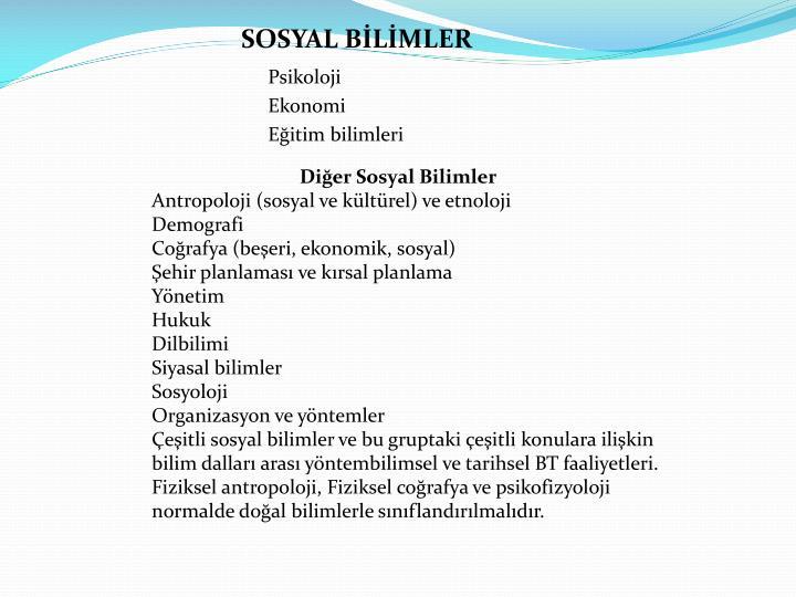 SOSYAL BİLİMLER