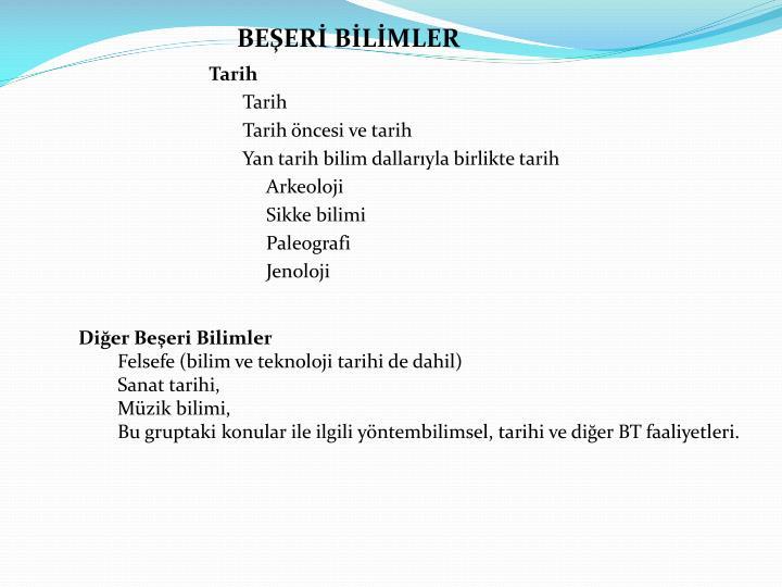 BEŞERİ BİLİMLER