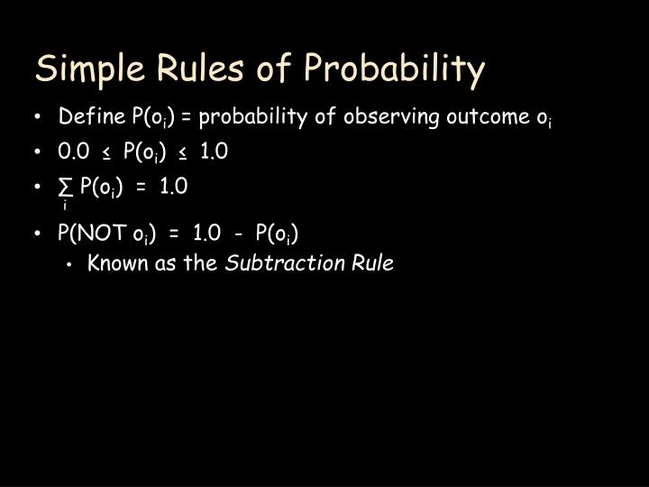 Simple Rules of Probability