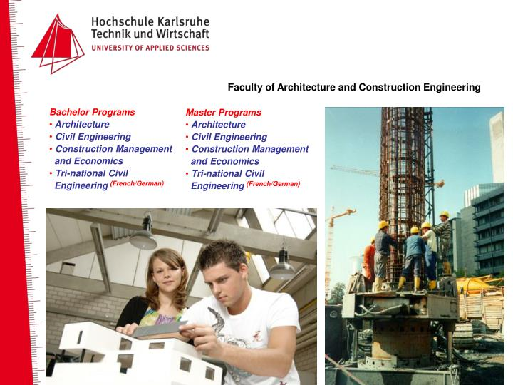 Faculty of Architecture and Construction Engineering