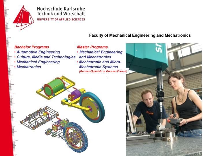 Faculty of Mechanical Engineering and Mechatronics