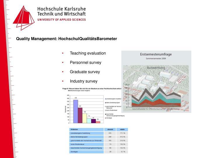 Quality Management: HochschulQualitätsBarometer