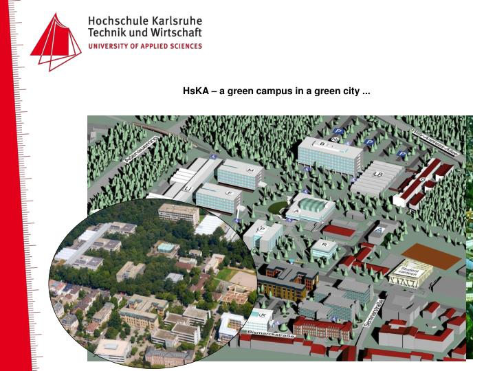 HsKA – a green campus in a green city ...