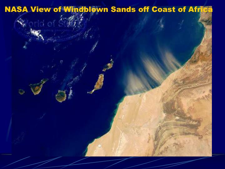 NASA View of Windblown Sands off Coast of Africa