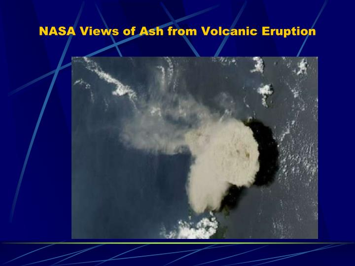 NASA Views of Ash from Volcanic Eruption