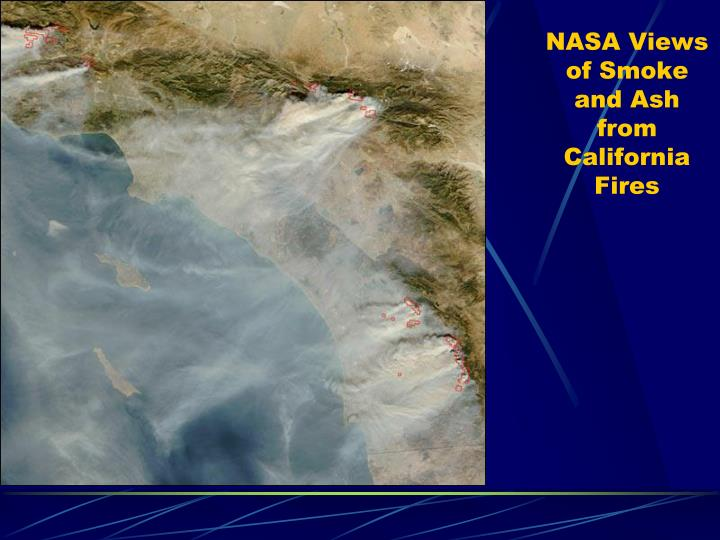 NASA Views of Smoke and Ash from California Fires