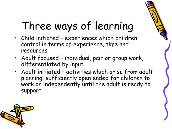 Three ways of learning