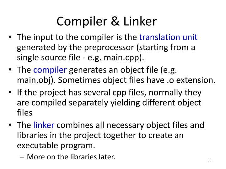 Compiler & Linker