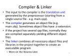 compiler linker