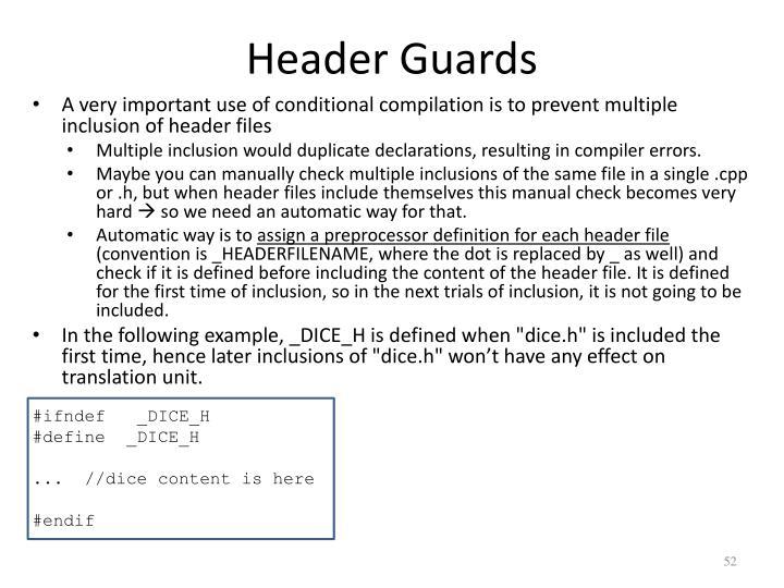 Header Guards