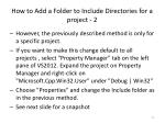 how to add a folder to include directories for a project 2