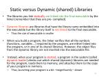 static versus dynamic shared libraries