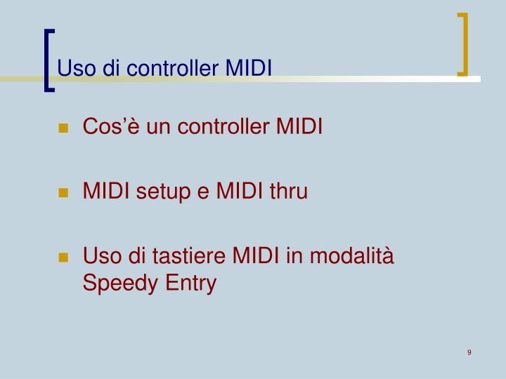 Uso di controller MIDI