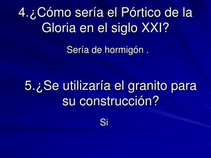 4.¿Cómo sería el Pórtico de la Gloria en el siglo XXI?