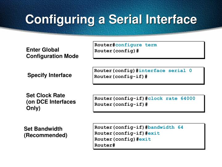 Configuring a Serial Interface