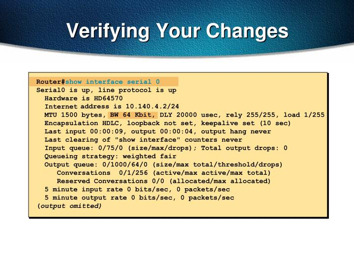 Verifying Your Changes