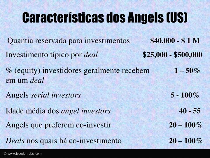Características dos Angels (US)