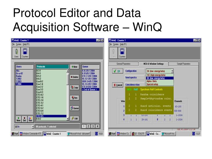 Protocol Editor and Data Acquisition Software – WinQ