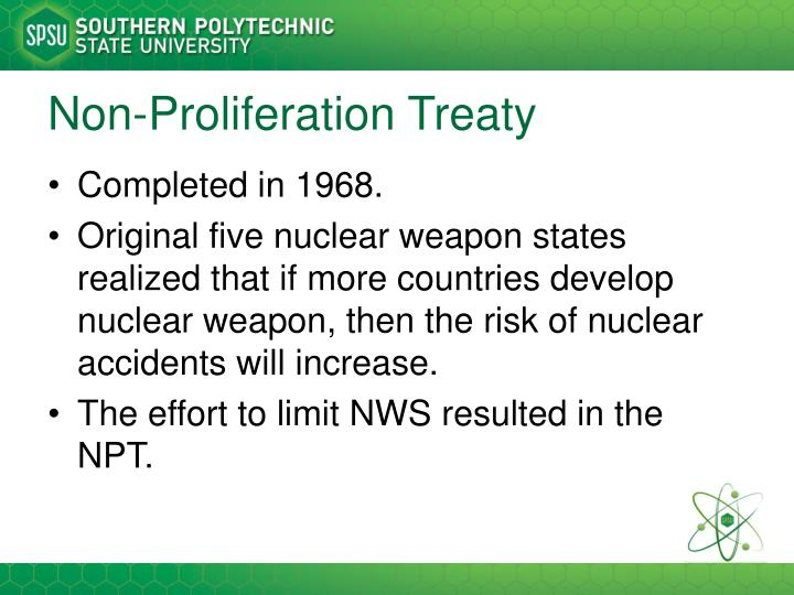 Non-Proliferation Treaty