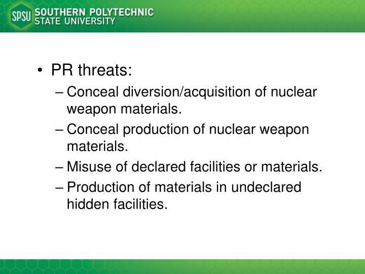 PR threats: