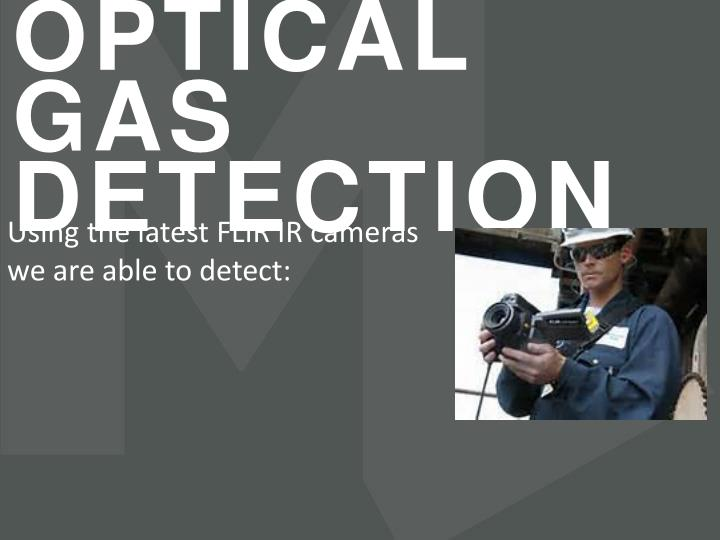 OPTICAL GAS DETECTION