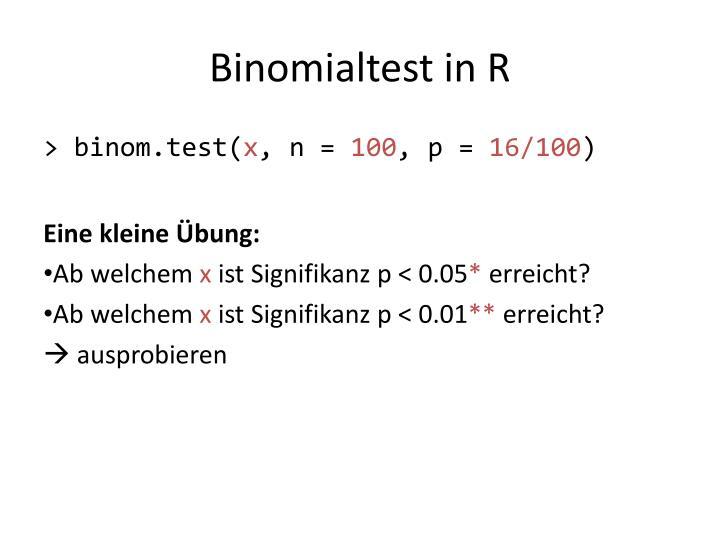 Binomialtest in R