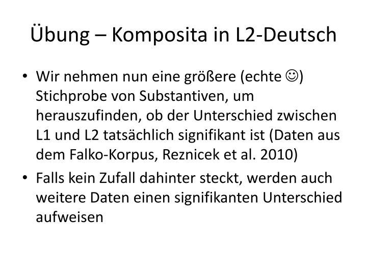 Übung – Komposita in L2-Deutsch