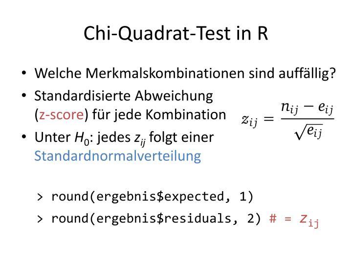 Chi-Quadrat-Test in R