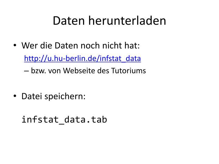 Daten herunterladen