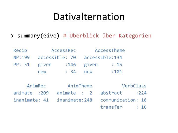 Dativalternation