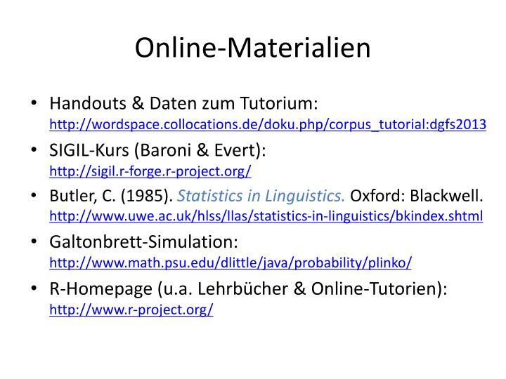 Online-Materialien