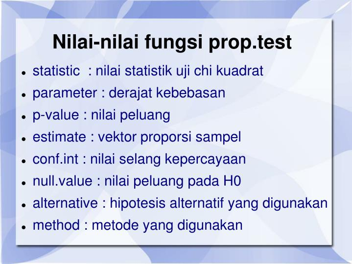 Nilai-nilai fungsi prop.test