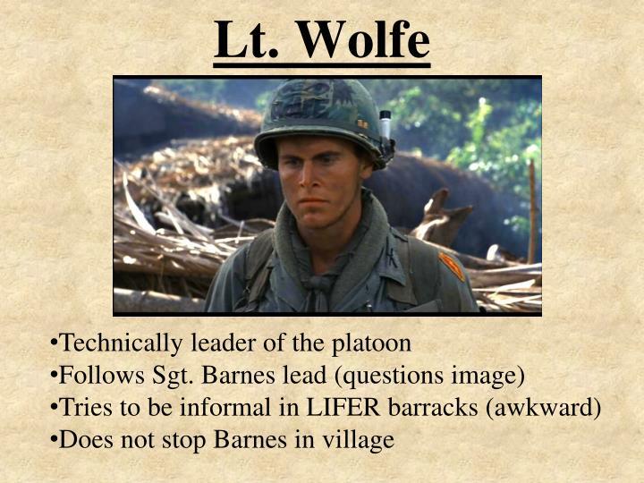 Lt. Wolfe