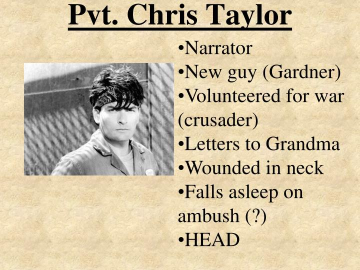Pvt. Chris Taylor
