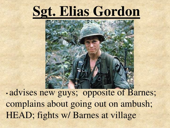 Sgt. Elias Gordon