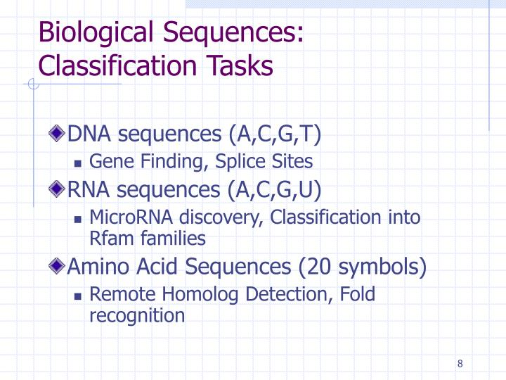 Biological Sequences: