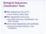 biological sequences classification tasks
