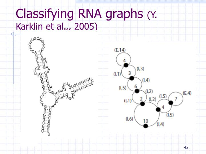 Classifying RNA graphs