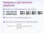 designing a joint kernel for sequences