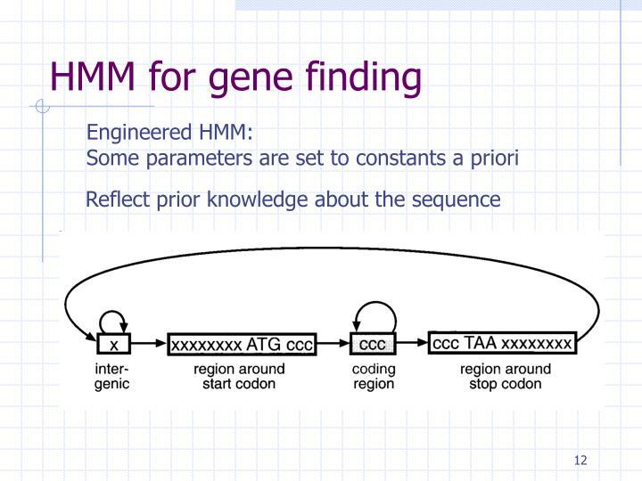 HMM for gene finding